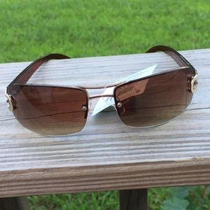 Foster Grant gold and brown sunglasses NWT